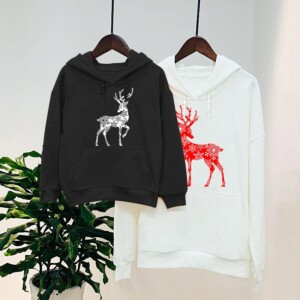 Christmas Deer Pattern Hoodie Dad Baby Clothes