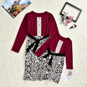 Leopard Dress for Mother & Baby