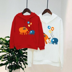Cartoon Design Hoodie Dad Baby Clothes