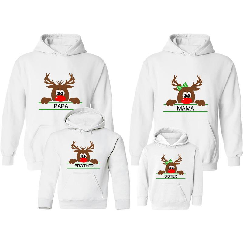 Christmas Cartoon Design Hoodie for Whole Family