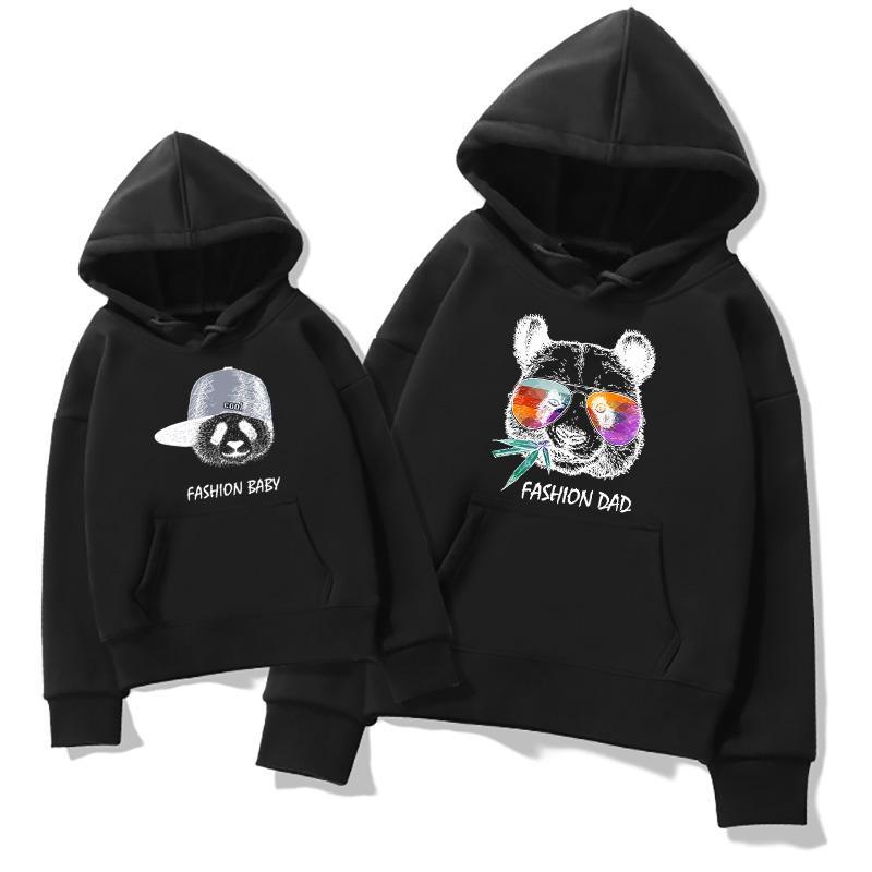 Cartoon Design Hoodie Dad Baby Clothes