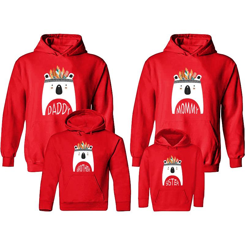 Cartoon Design Hoodie for Whole Family