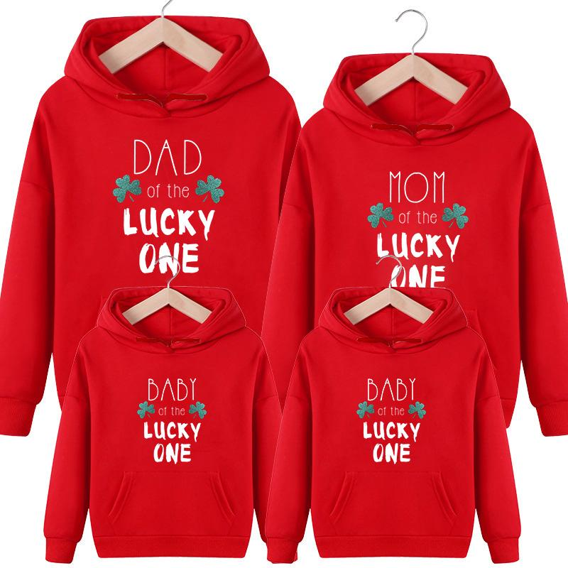 Letter Pattern Hoodie for Whole Family