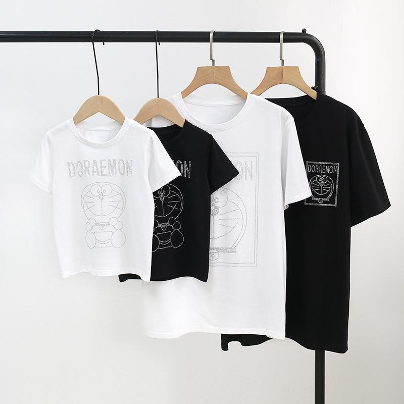 Cartoon Design T-shirt for Whole Family