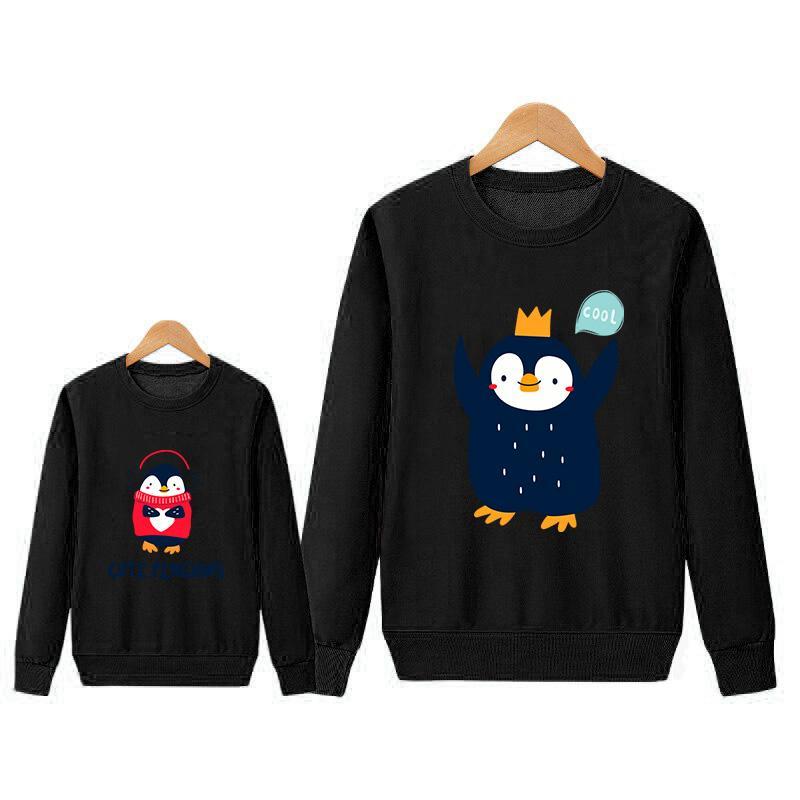 Cartoon Design Sweatshirt Dad Baby Clothes
