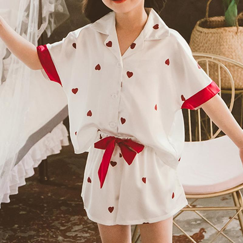 Heart-shaped Printed Mother Baby Clothes