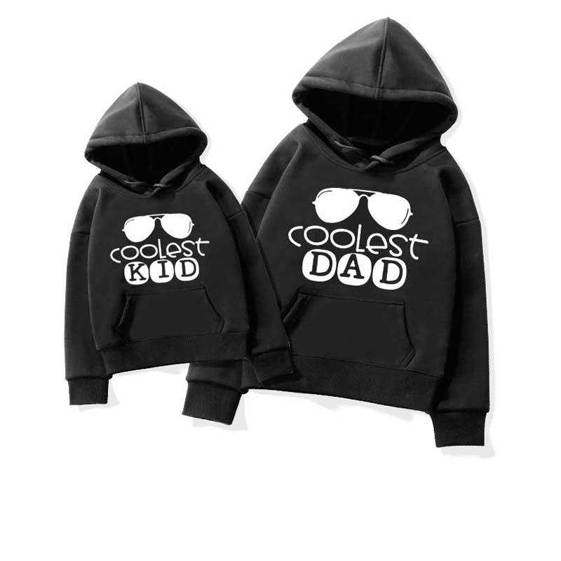Letter Pattern Hoodie Dad Baby Clothes