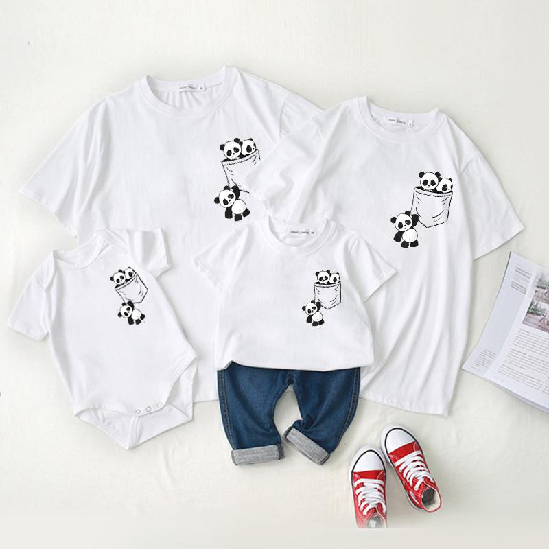 Family wear baby crawl wear short - sleeved t - shirt summer wear