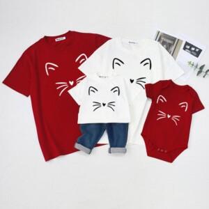 Family wear baby crawl wear short - sleeved t - shirt summer wear