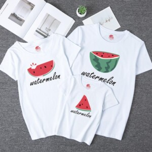 Fruit Pattern T-shirt for Whole Family Children's