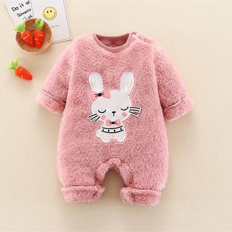 Rabbit Pattern Hooded Jumpsuit for Baby Girl