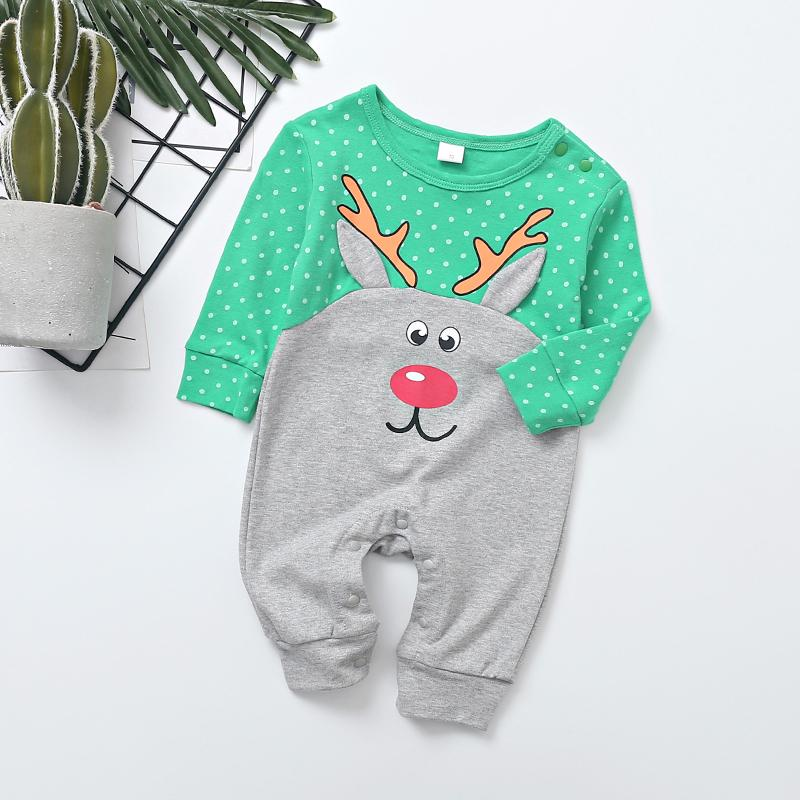 Christmas Deer Pattern Jumpsuit for Baby