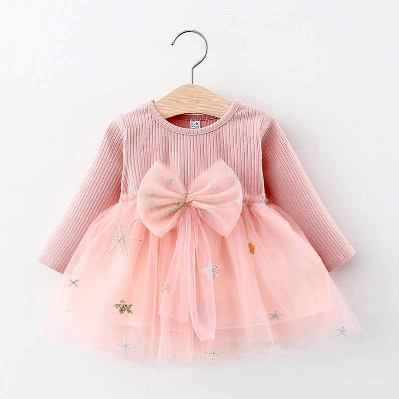 Star Pattern Dress for Baby Girl