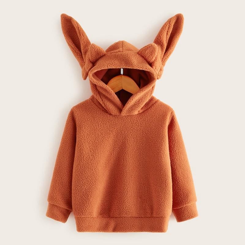 Plush Ear Hooded Jacket for Toddler Boy