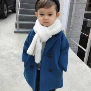 Solid Trick Duffle Coat Trench for Toddler Boy