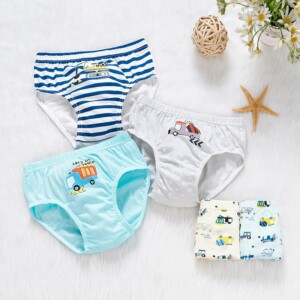 5-piece Cartoon Design Underwears for Toddler Boy