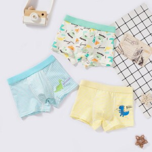 3-piece Cartoon Design Panties for Toddler Boy