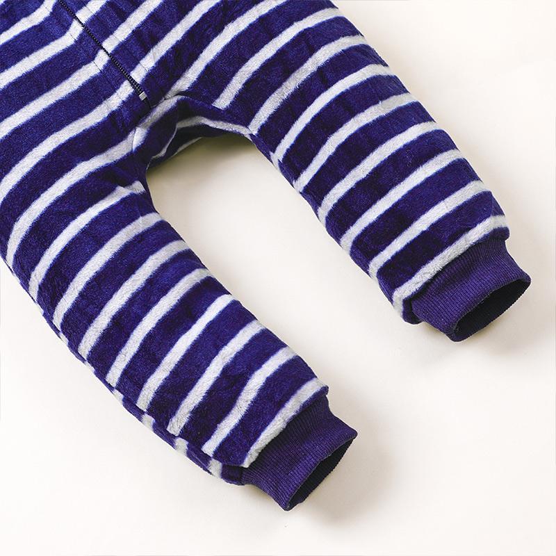 Stripes Fleece Jumpsuit for Baby Boy