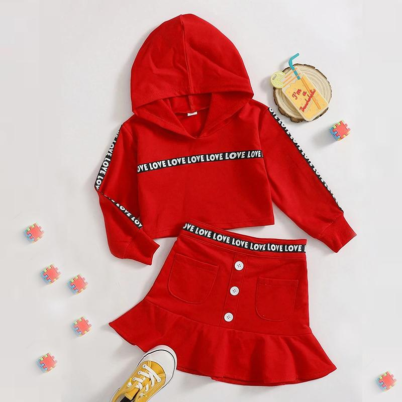 2-piece Hoodie & Skirts for Toddler Girl