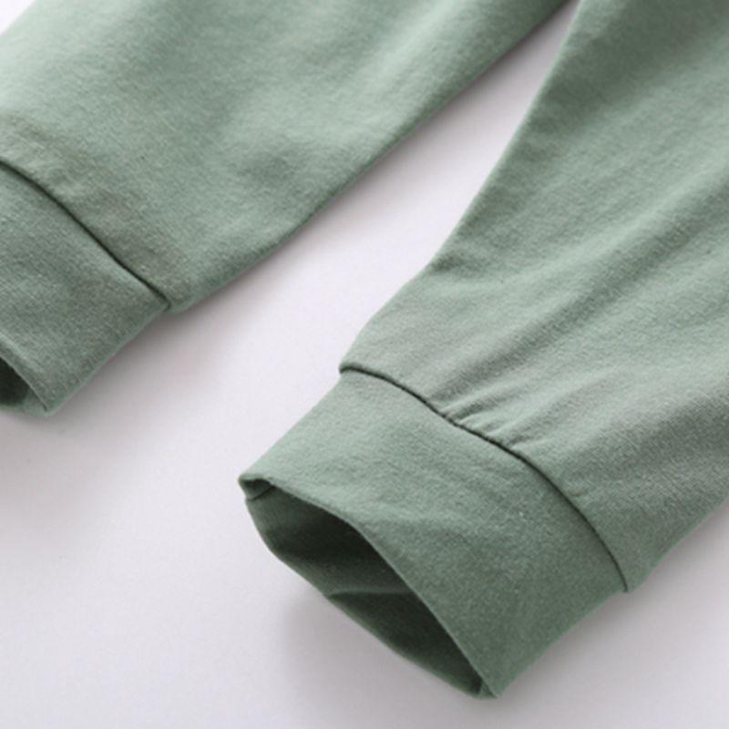2-piece Floral Printed Hoodie & Pants for Baby Boy
