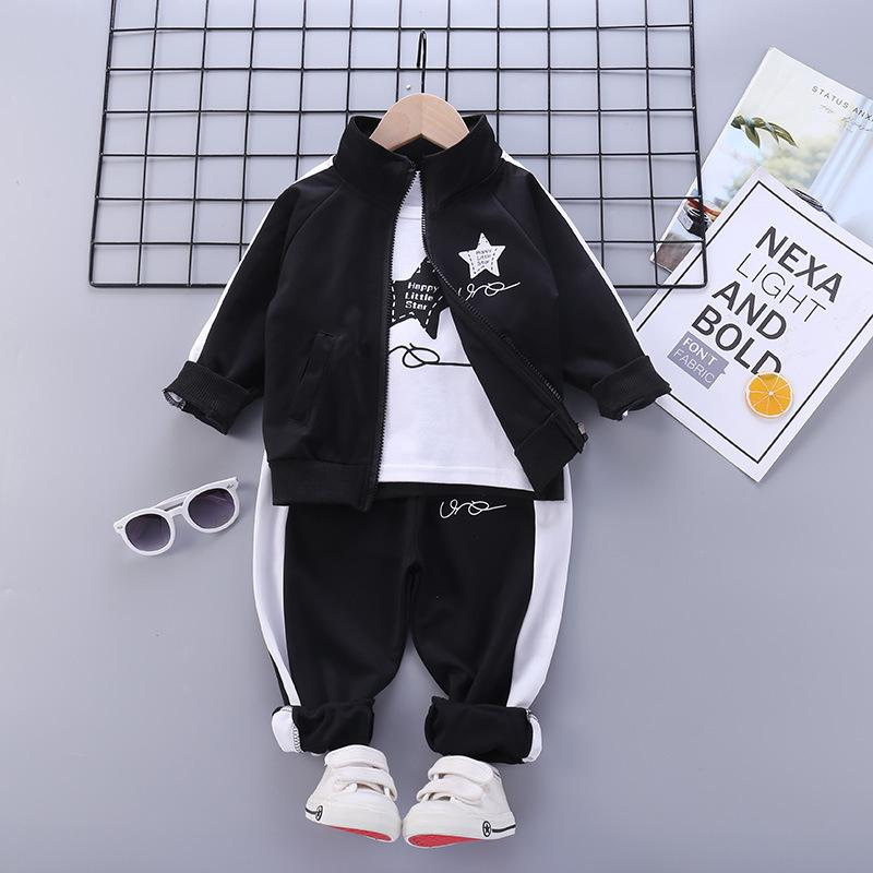 3-piece Pentagram Pattern Suit for Toddler Boy