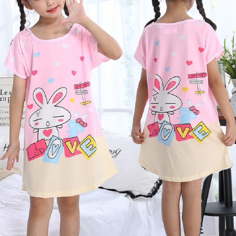 Cartoon Design Pajamas Dress for Girl
