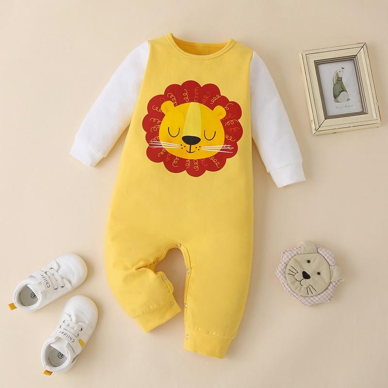 Cartoon Lion Pattern Jumpsuit for Baby Boy