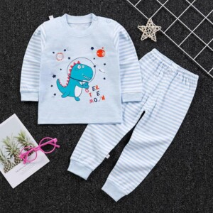 2-piece Cartoon Design Pajamas Sets for Toddler Boy