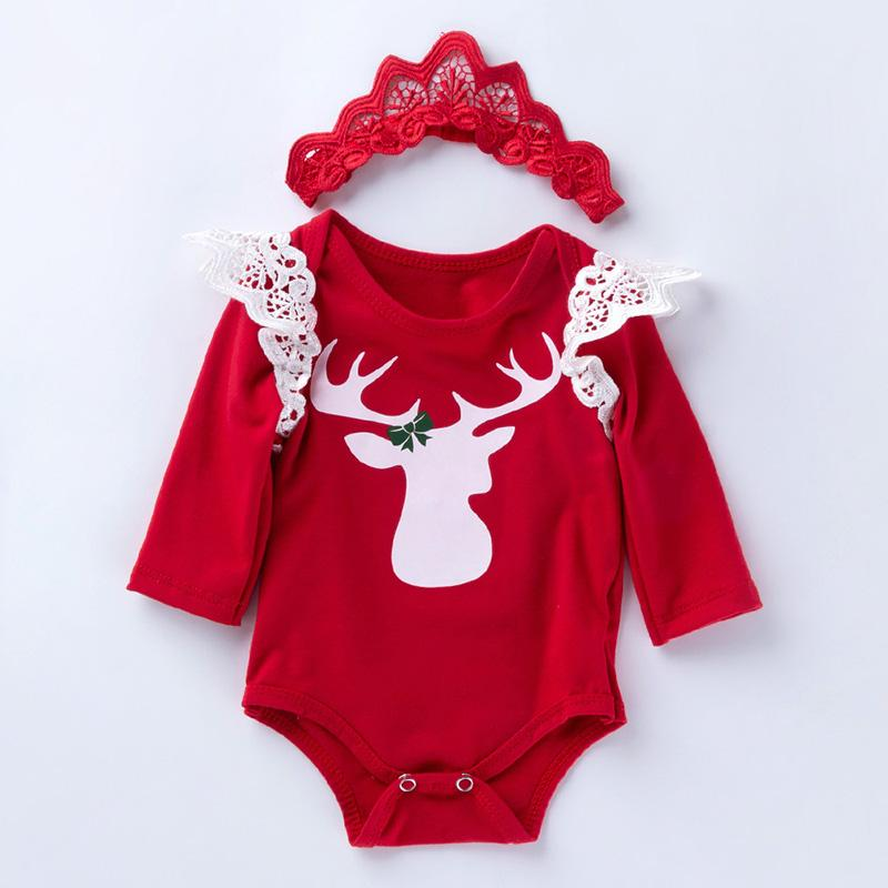 2-piece Romper and Headband Sets for Baby Girl