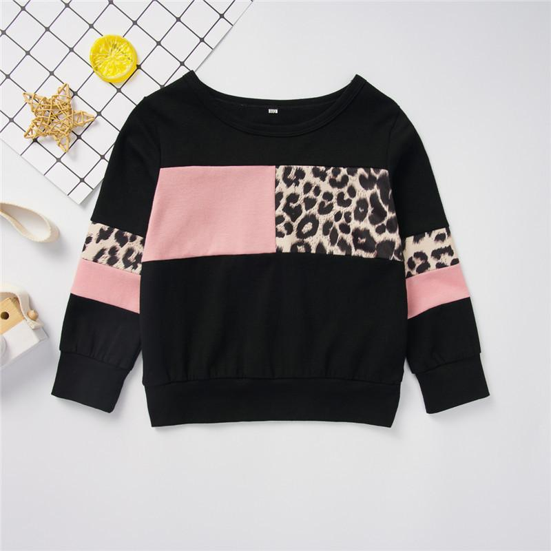 Leopard Pattern Long Sleeve T-shirt for Toddler Girl