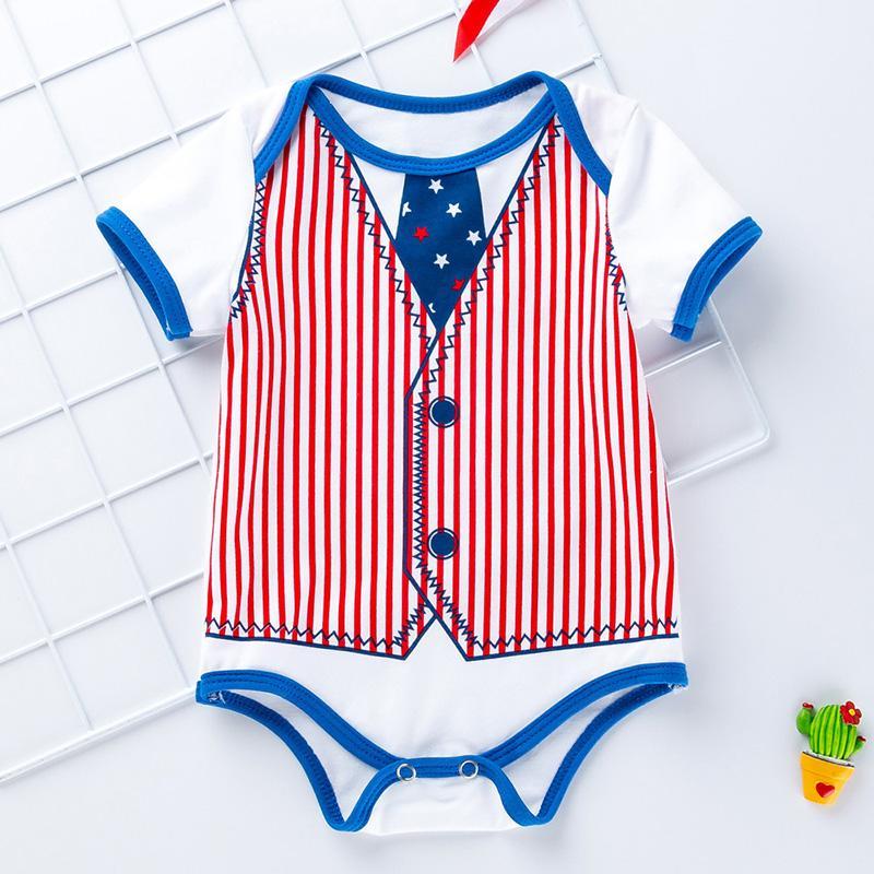 Letter Pattern Bodysuit for Baby Girl
