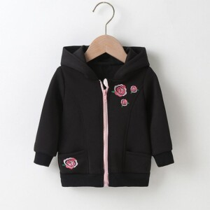 Floral Pattern Coat for Baby Girl
