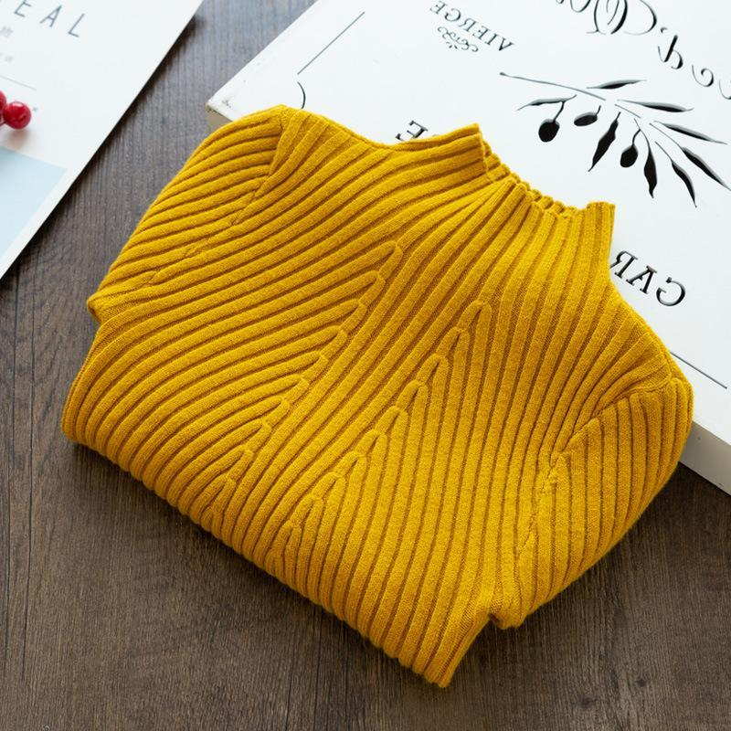 Solid Knitted Sweater for Girl