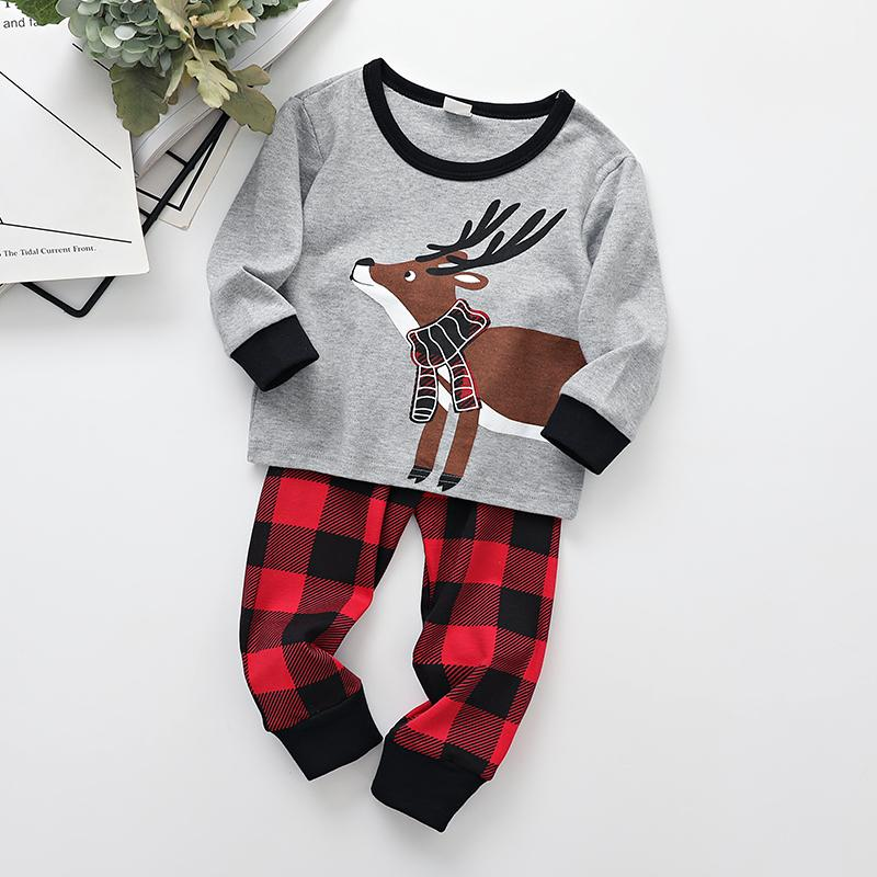 2-piece Christmas Pattern Tops & pants for Toddler Boy