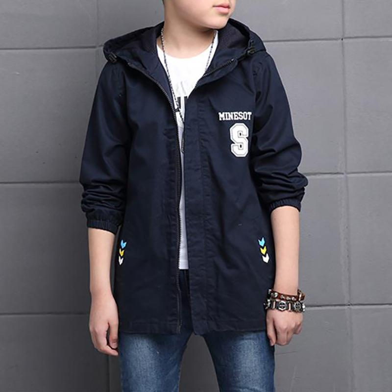 Casual Fleece-lined Trench for Boy