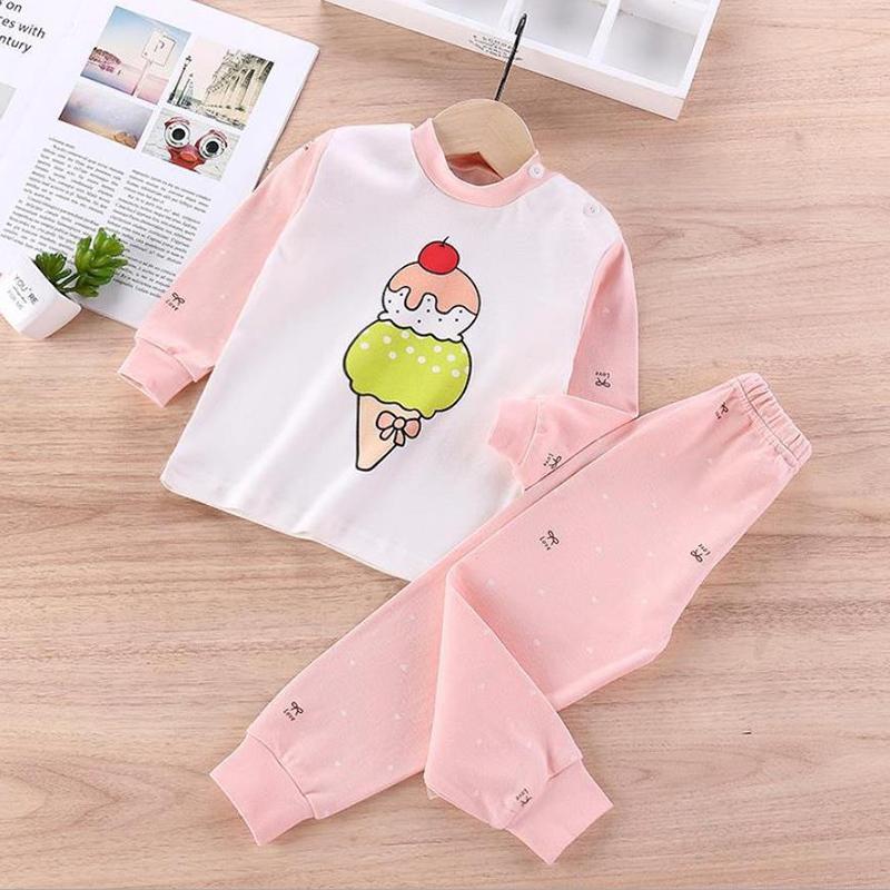 2-piece Animal Pattern Pajamas Sets for Toddler Girl