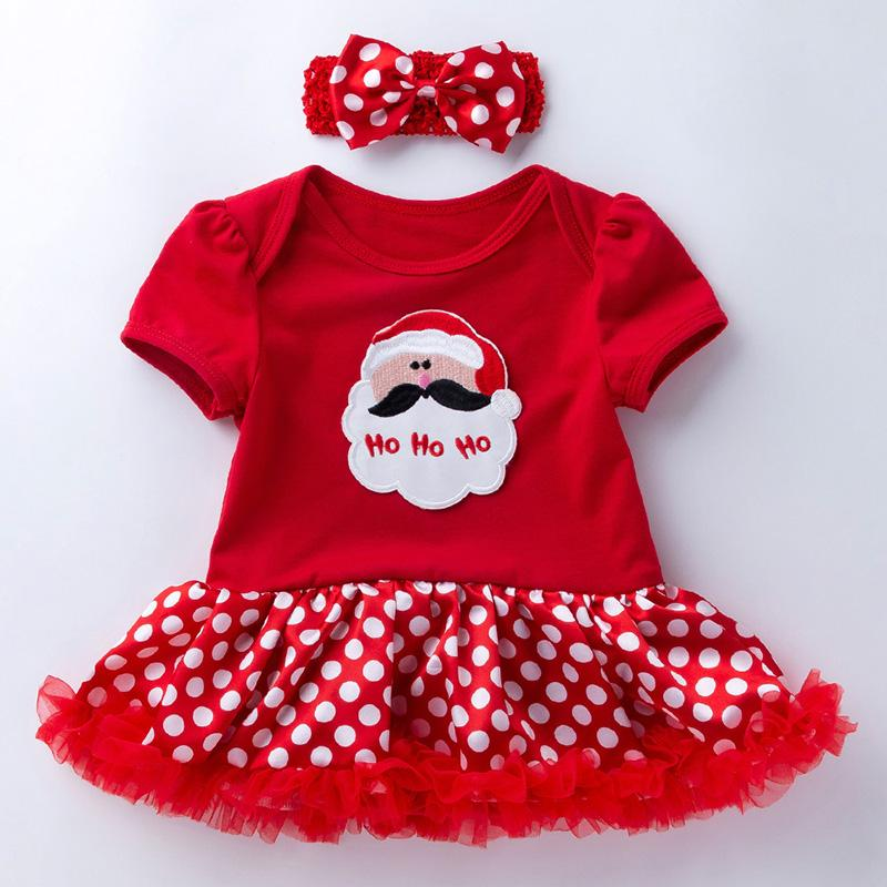 2-piece Cartoon Romper-skirt and Bow Headband Sets for Baby Girl