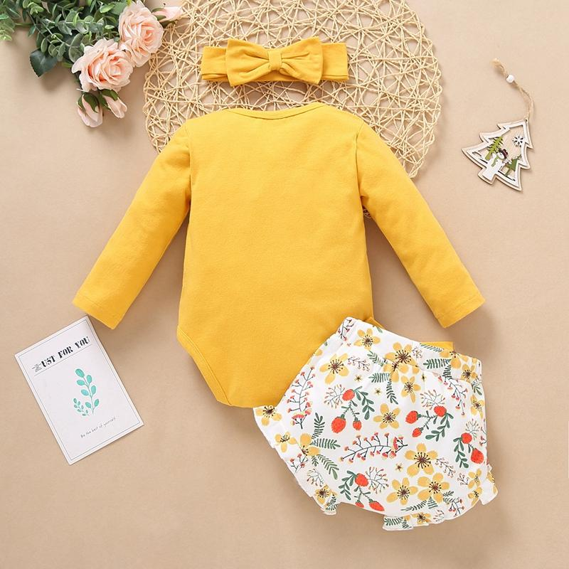 3-piece Hat & Romper & Pants for Baby Girl