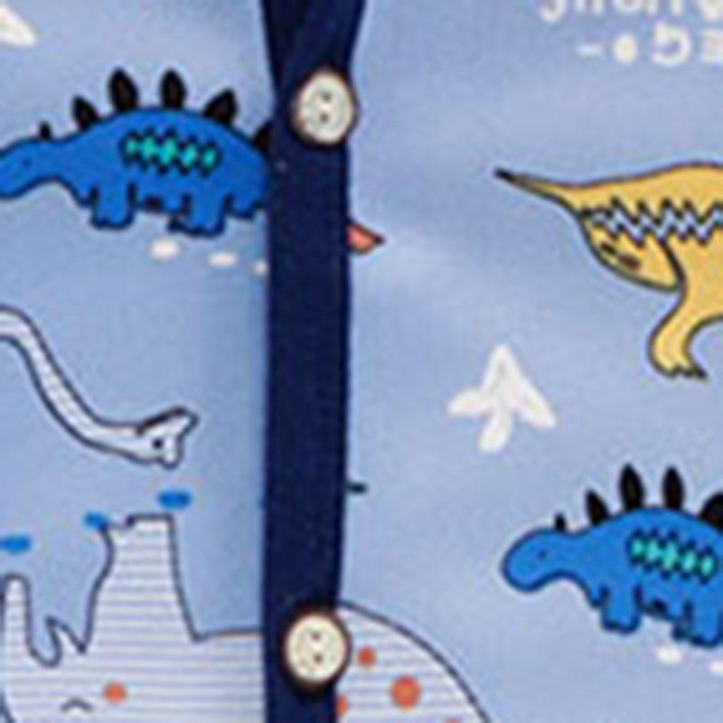 Dinosaur Printed Hooded Coat for Toddler Boy