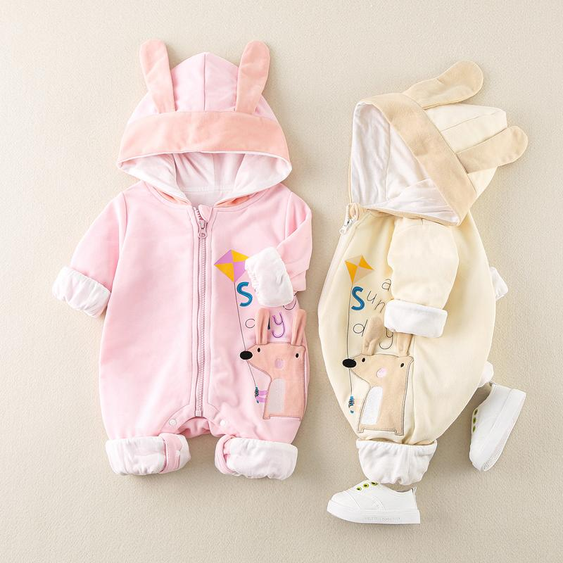 Rabbit Pattern Jumpsuit for Baby Girl