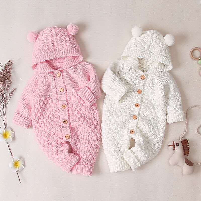 Knitted Romper for Baby