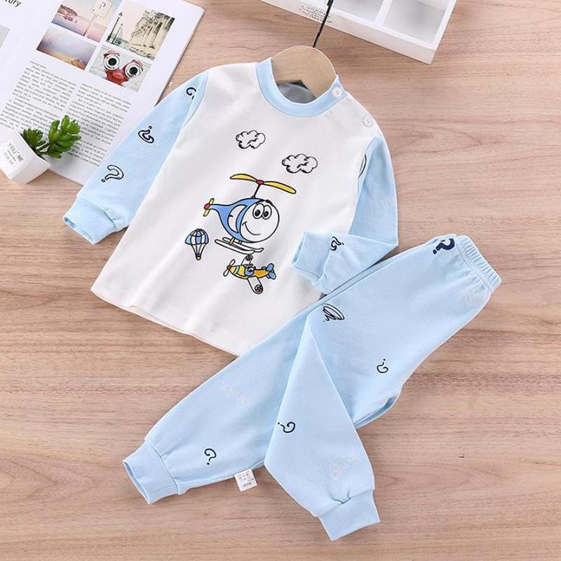 2-piece Vehicle Pattern Pajamas Sets for Toddler Boy