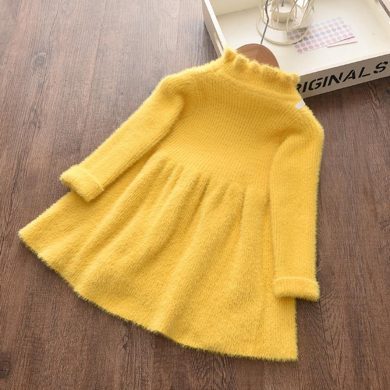 Sweet Solid Dress for Toddler Girl