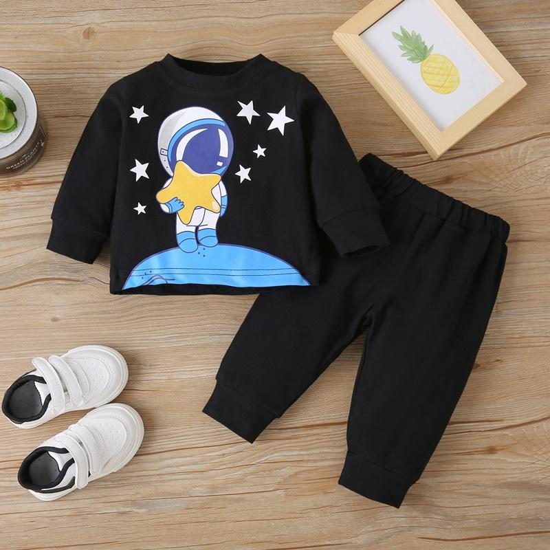 2-piece Galaxy Pattern Pullover & Pants for Baby Boy