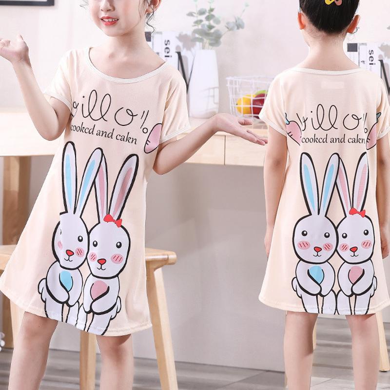Cartoon Design Pajamas Dress for Girl