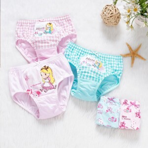 5-piece Cartoon Design Underwear for Girl