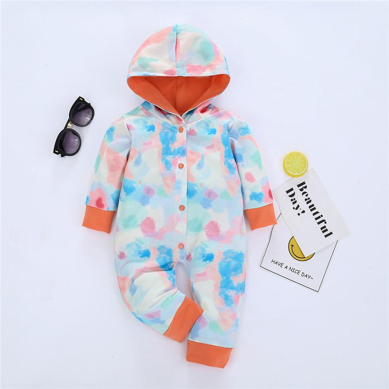 Tie Dye Hooded Jumpsuit for Baby