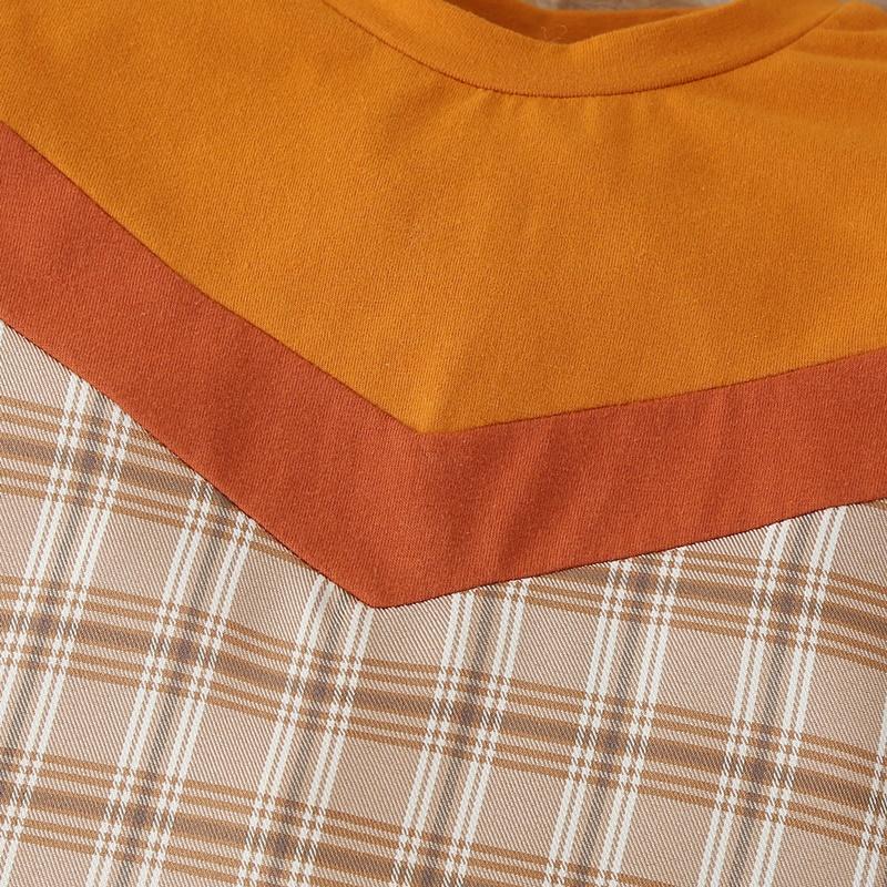 2-piece Plaid Jumpsuit & Hat for Baby Boy