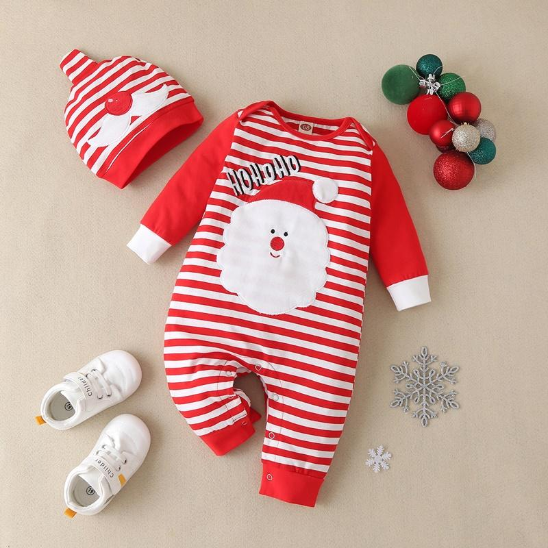 2-piece Christmas Jumpsuit & Hat for Baby