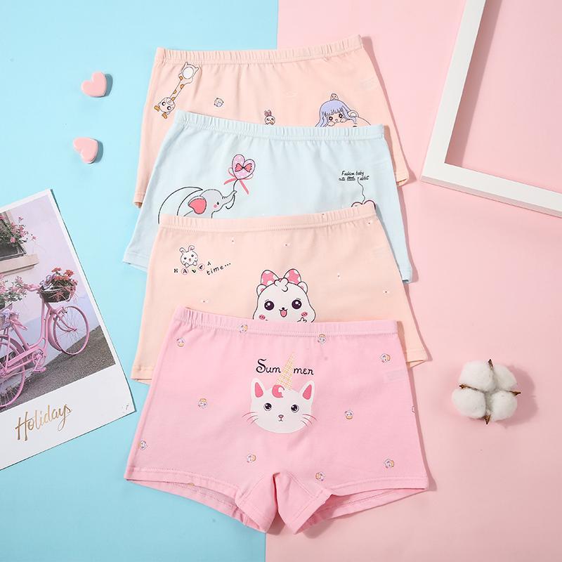4-piece Cartoon Design Panties for Toddler Girl